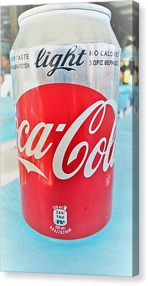 Coca Cola Light Can Canvas Print