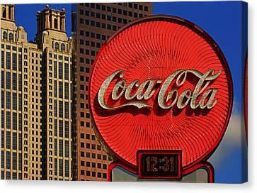 Coca Cola Neon Sign Atlanta Canvas Print