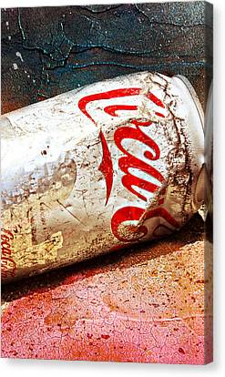 Canvas Print featuring the photograph Coca Cola On The Rocks By Mike-hope by Michael Hope
