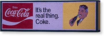 Coca-cola Painted Sign Canvas Print