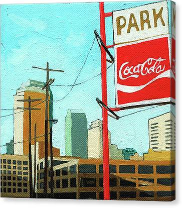 Canvas Print - Coca Cola Park by Linda Apple