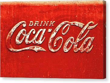 Coca Cola Rustic Canvas Print by Stephen Anderson