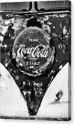 Coca Cola Vw Split Screen Monochrome Canvas Print