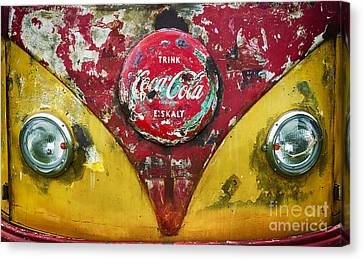 Coca Cola Vw Split Screen  Canvas Print by Tim Gainey
