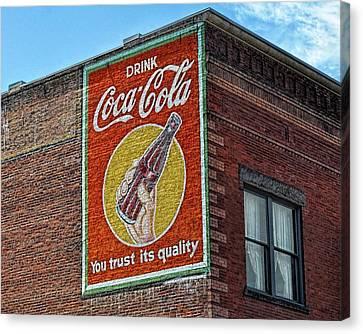 Coca'cola The Dalles, Oregon Canvas Print by Thomas J Rhodes