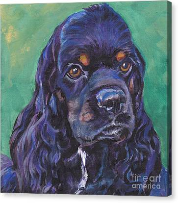 Cocker Spaniel Head Study Canvas Print by Lee Ann Shepard