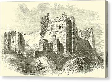 Pen And Ink Drawings Canvas Print - Cockermouth Castle by English School