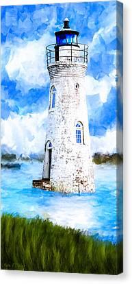 River Canvas Print - Cockspur Island Light - Georgia Coast by Mark Tisdale