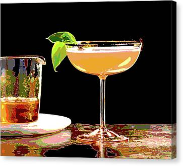 Booze Canvas Print - Cocktail And Dreams by Charles Shoup