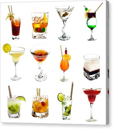 Cocktail Collection Canvas Print