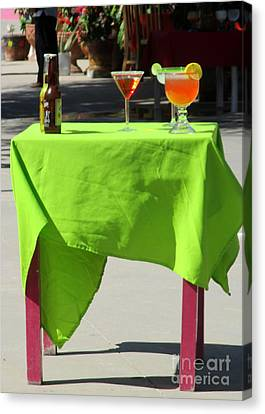 Cocktail Table Canvas Print by Randall Weidner