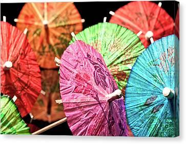 Cocktail Umbrellas Iv Canvas Print by Tom Mc Nemar