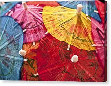 Cocktail Umbrellas V Canvas Print by Tom Mc Nemar