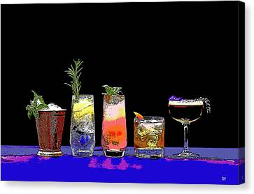 Booze Canvas Print - Cocktails And Dreams by Charles Shoup