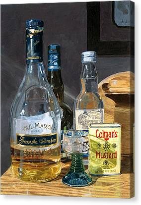 Canvas Print featuring the painting Cocktails And Mustard by Lynne Reichhart