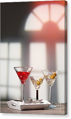 Window Bars Canvas Print - Cocktails At House Party by Amanda Elwell