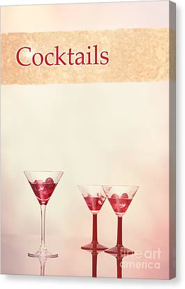 Pour Canvas Print - Cocktails At The Bar by Amanda Elwell