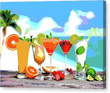 Booze Canvas Print - Cocktails by Charles Shoup