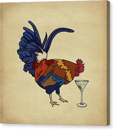 Canvas Print featuring the mixed media Cocktails by Meg Shearer