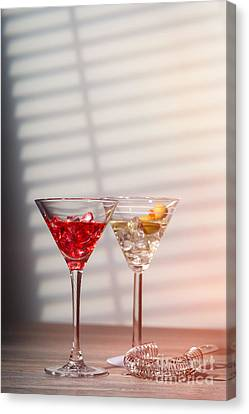 Cocktails With Strainer Canvas Print by Amanda Elwell
