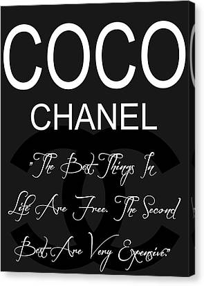 Coco Chanel Quote 3 Canvas Print by Dan Sproul