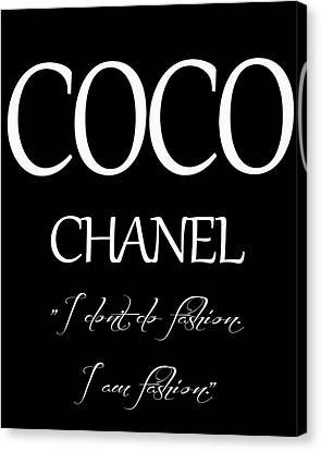 Coco Chanel Quote Canvas Print