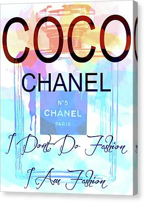Coco Chanel Watercolor Quote Canvas Print by Dan Sproul