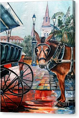 Coco In The Quarter Canvas Print by Diane Millsap
