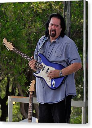Coco Montoya And His Ocean Blue Fender American Standard Stratoc Canvas Print