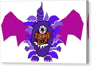 Coco Purple People Eater Costume Canvas Print