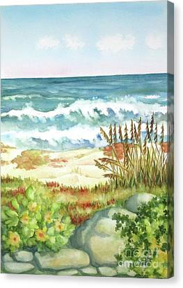 Canvas Print featuring the painting Cocoa Beach Afternoon by Inese Poga