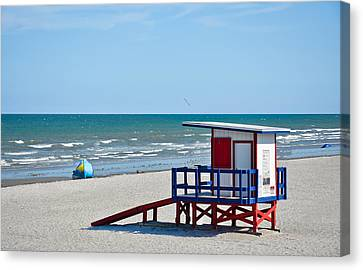 Breaking Rules Canvas Print - Cocoa Beach - Life Guard Shack - Florida by Greg Jackson