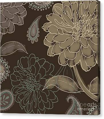 Cocoa Paisley II Canvas Print by Mindy Sommers