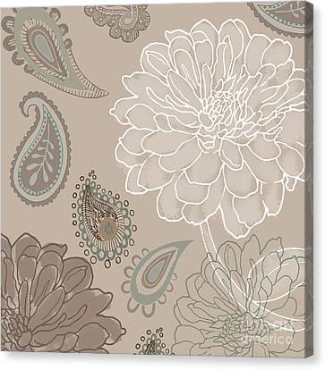 Cocoa Paisley V Canvas Print by Mindy Sommers