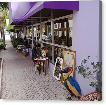 Cocoa Village In Florida Canvas Print by Allan  Hughes
