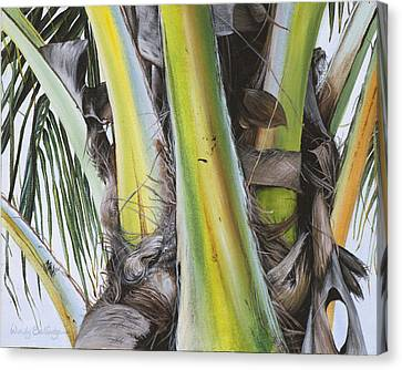 Coconut Branches Canvas Print by Wendy Ballentyne