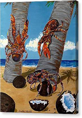 Coconut Crab Cluster Canvas Print