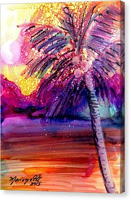 Coconut Palm Tree 2 Canvas Print by Marionette Taboniar