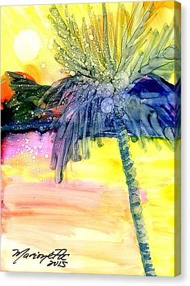 Coconut Palm Tree 3 Canvas Print by Marionette Taboniar