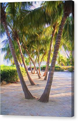 Coconut Palms Inn Beachfront Canvas Print