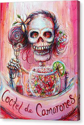 Canvas Print featuring the painting Coctel De Camarones by Heather Calderon