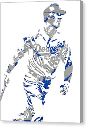 Cody Bellinger Los Angeles Dodgers Pixel Art 1 Canvas Print