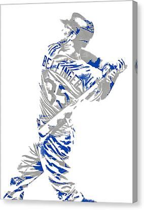 Bat Canvas Print - Cody Bellinger Los Angeles Dodgers Pixel Art 2 by Joe Hamilton