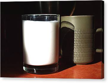 Coffee And Kefir Canvas Print