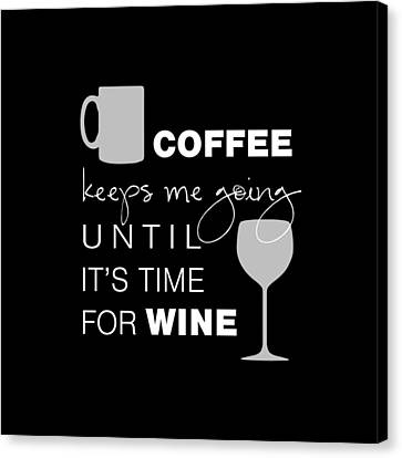 Coffee And Wine Canvas Print