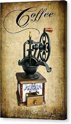 Coffee Bean Grinder Canvas Print by Daniel Hagerman