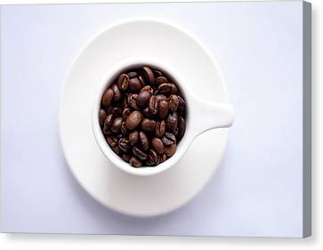 Coffee Beans Canvas Print by Happy Home Artistry