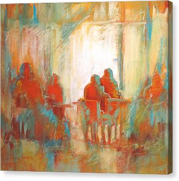 Coffee Break Canvas Print by LaDonna Kruger