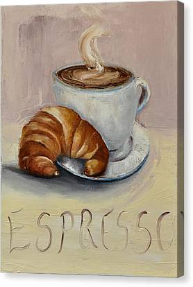 Coffee Break Canvas Print by Lindsay Frost