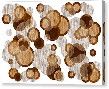Coffee Colored Circles Canvas Print by Frank Tschakert